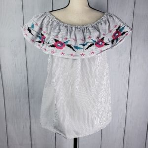 Falls Creek Embroidered Off-the-Shoulder Top